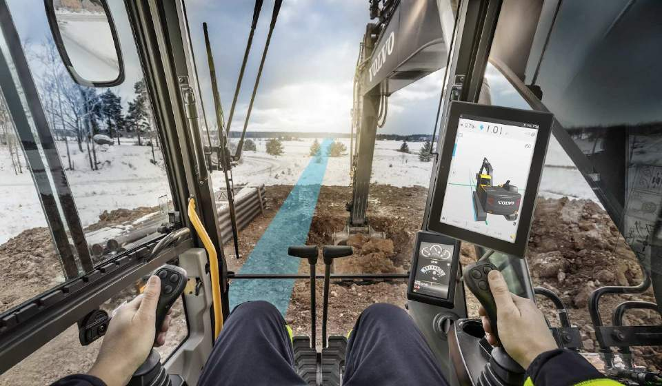 Trimble Earthworks für Volvo Dig Assist